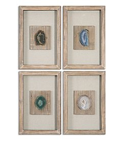 Uttermost Set of 4 Agate Stone