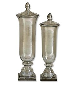 Uttermost Set of 2 Gilli Glass Decorative Containers