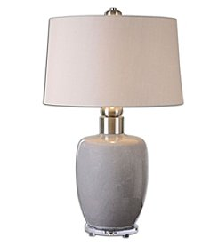 Uttermost Ovidius Grey Glaze Lamp