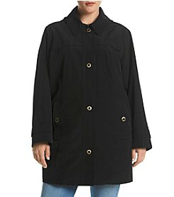 London Fog® Plus Size Hooded Rain Jacket