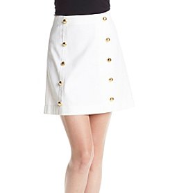 MICHAEL Michael Kors® Button Detail Mini Skirt