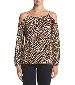 MICHAEL Michael Kors® Animal Printed Cold Shoulder Top