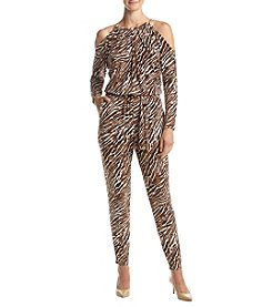 MICHAEL Michael Kors® Animal Print Cold Shoulder Jumpsuit