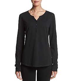 Relativity® Knit Henley Sleep Top