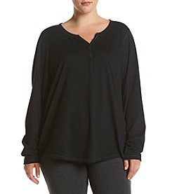 Relativity® Plus Size Henley Sleep Top