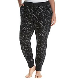 Relativity® Plus Size Terry Sleep Jogger Pants