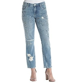 BLANKNYC® Studded Destructed Ankle Jeans