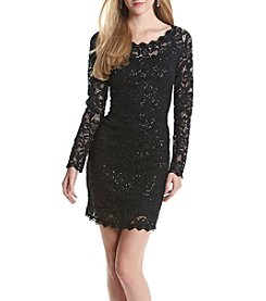 My Michelle® Sequin Lace Shift Dress