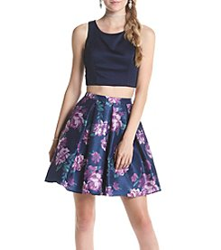 My Michelle® Navy Floral Skirt Two Piece