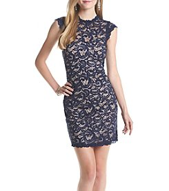 My Michelle® Lace Body Con Sheath Dress