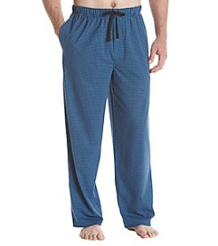 John Bartlett Statements Houndstooth Print Knit Sleep Pants