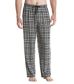 John Bartlett Statements Plaid Print Knit Sleep Pants