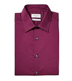 John Bartlett Statements Men's Flexible Collar Stretch Slim Fit Spread Collar Solid Dress Shirt