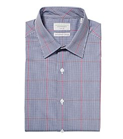 John Bartlett Statements Men's Flexible Collar Stretch Slim Fit Spread Collar Check Dress Shirt