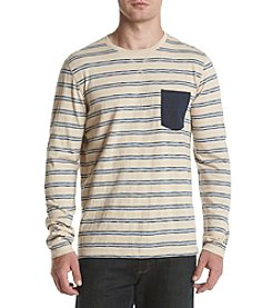 Ruff Hewn Long Sleeve Spacedye Striped Long Sleeve Tee