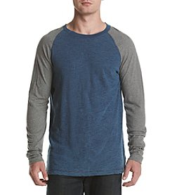 Ruff Hewn Long Sleeve Raglan Colorblock Crew Shirt