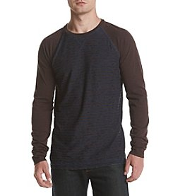 Ruff Hewn Long Sleeve Raglan Feeder Stripe Tee