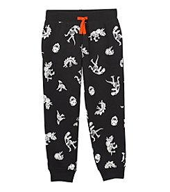 Mix & Match Boys' 4-8 Dinosaur Print Joggers