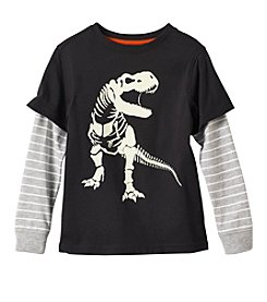 Mix & Match Boys' 4-8 Long Sleeve Graphic Skater Tee
