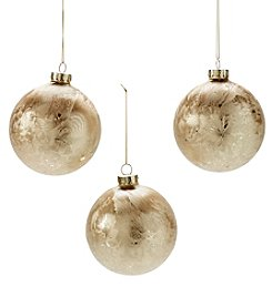 CASA by Victor Alfaro Set Of Three Goldtone Ball Ornaments