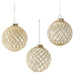 CASA by Victor Alfaro Embellish Ball Ornament Trio