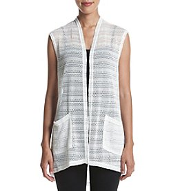 Jones New York® Textured Knit Vest