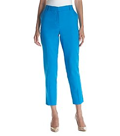 Jones New York® Grace Tapered Straight Leg Ankle Pants