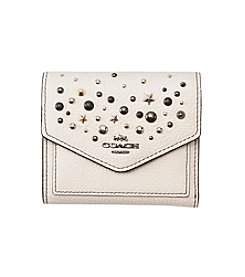 COACH SMALL WALLET IN POLISHED PEBBLED LEATHER