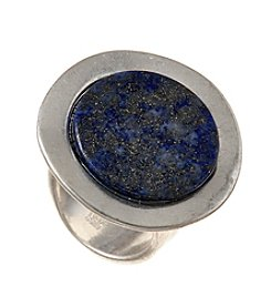 Robert Lee Morris Soho™ Silvertone Lapis Ring