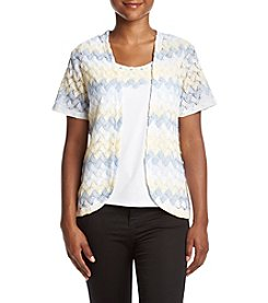 Alfred Dunner® Petites' Zig Zag Layered Look Top