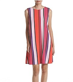 Nine West® Striped Trapeze Dress