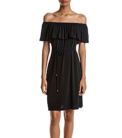 Ivanka Trump® Zip Shoulder Dress