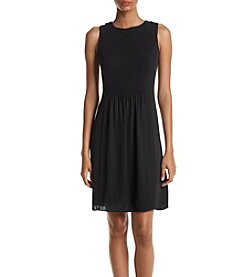 Ivanka Trump® Black Smocked Dress