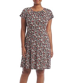 MICHAEL Michael Kors® Plus Size Brooks Shirred Neck Dress