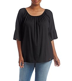 MICHAEL Michael Kors® Plus Size Bell Sleeve Knit Top