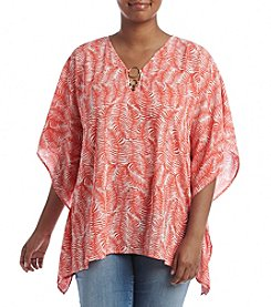 MICHAEL Michael Kors® Plus Size Pella Ring Flutter Top