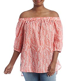 MICHAEL Michael Kors® Plus Size Pella Fern Off Shoulder Top