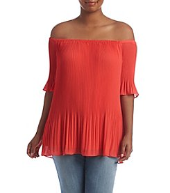 MICHAEL Michael Kors® Plus Size Pleated Off Shoulder Top