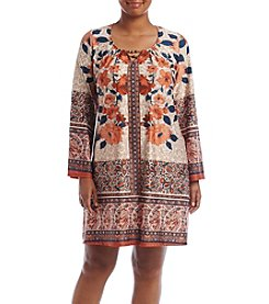 Oneworld® Plus Size Floral Printed Dress
