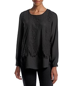 Notations® Lace Front Blouse
