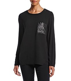 Notations® Sequin Pocket Pullover