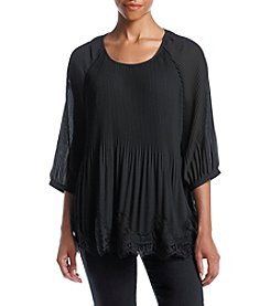 Notations® Cold Shoulder Top