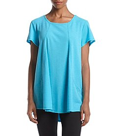 Calvin Klein Performance High Low Angle Front Seam Top