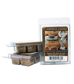 Cheerful Candle 6 Pack Warm and Gooey Cinnamon Buns Fragrant Wax Melts