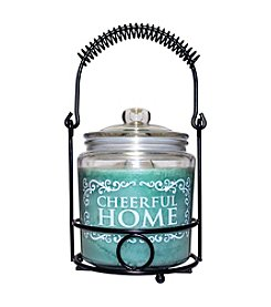 Cheerful Home 26 oz. Welcome Wreath Candle Set
