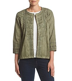 Alfred Dunner® Mixed Media Jacket