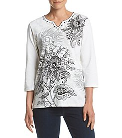 Alfred Dunner® Scroll Printed Top