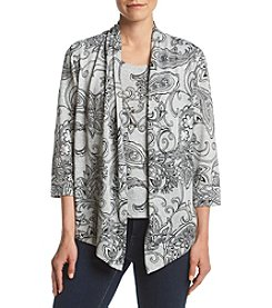 Alfred Dunner® Paisley Two-For-One Top