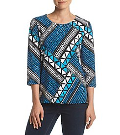 Alfred Dunner® Patchwork Knit Top