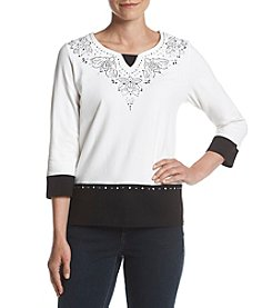 Alfred Dunner® Heat Set Yoke Top
